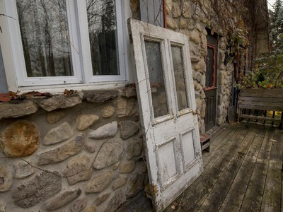 An old front door waits for a new future at the the Rigaud home of Roger Brabant.