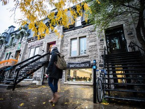 A view of the former space for fashion designer Philippe Dubuc's boutique at 4451 St. Denis street in Montreal on Thursday, October 23, 2014.