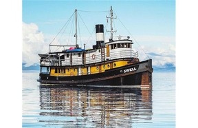 The Swell, a classic tugboat, carries just 10 passengers.
