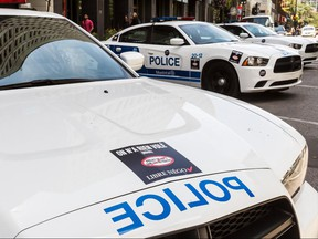 City of Montreal police vehicles.