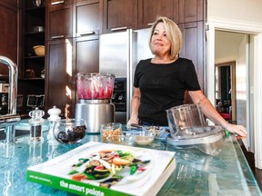 Tina Landsman Abbey in her kitchen in Westmount with ingredients for beet dip, a recipe in The Smart Palate: Delicious Recipes for a Healthy Lifestyle (McGill-Queen's University Press), a cookbook she edited with Gail Goldfarb Karp and Joe Schwarcz. The book is a fundraiser for the Rosalind and Morris Goodman Cancer Research Centre.