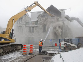 Crews tear down the Negro Community Centre in Little Burgundy, Montreal, on Nov. 20, 2014.