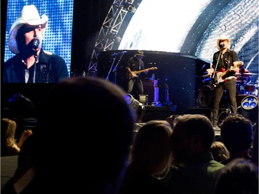 Country superstar Brad Paisley performs at the Bell Centre in Montreal on Saturday November 22, 2014.