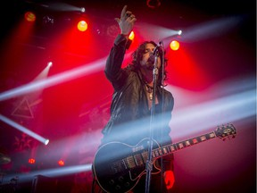 Jeff Martin of the Tea Party in concert at the Metropolis in Montreal, on Friday, November 28, 2014.
