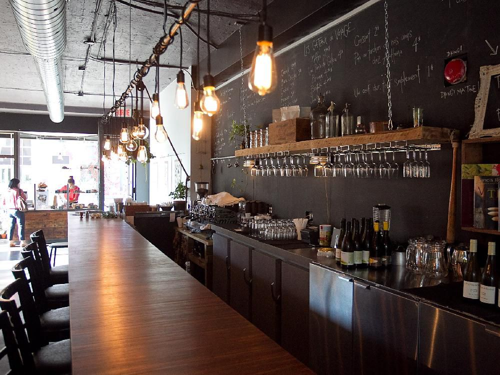 Interior showing the bar area of restaurant Ma'tine located on de Maisonneuve on Oct. 07, 2014.