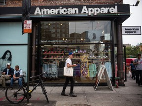American Apparel Inc. filed for bankruptcy protection in November 2016 and agreed to sell Montreal's Gildan Activewear.