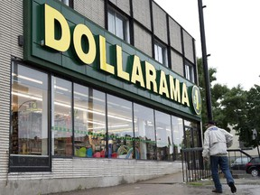 A Dollarama store is pictured on June 11, 2013 in Montreal.