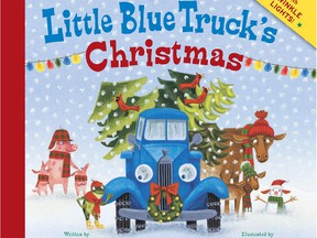Cover illustration by Jill McElmurry for Little Blue Truck's Christmas, by Alice Schertle.