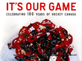 """Cover of hockey book """"It's Our Game"""" by Michael McKinley."""