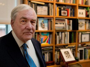 Conrad Black poses for a photograph during a promotional tour for his new book, Rise to Greatness: The History of Canada From the Vikings to the Present, in Montreal on Friday November 28, 2014.