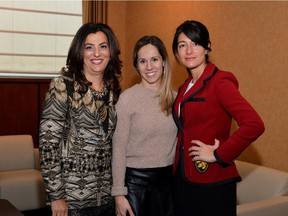 From left, the three women honoured at the Israel Cancer Research Fund's Pink Lady Women of Action event in November: Sima Goel, Jennifer Heil, Maria Guzzo.