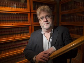 Lawyer Brent Tyler who has appealed Quebec's signs law and is expecting major ruling Wednesday, in his office in Old Montreal on Tuesday January 27, 2015.