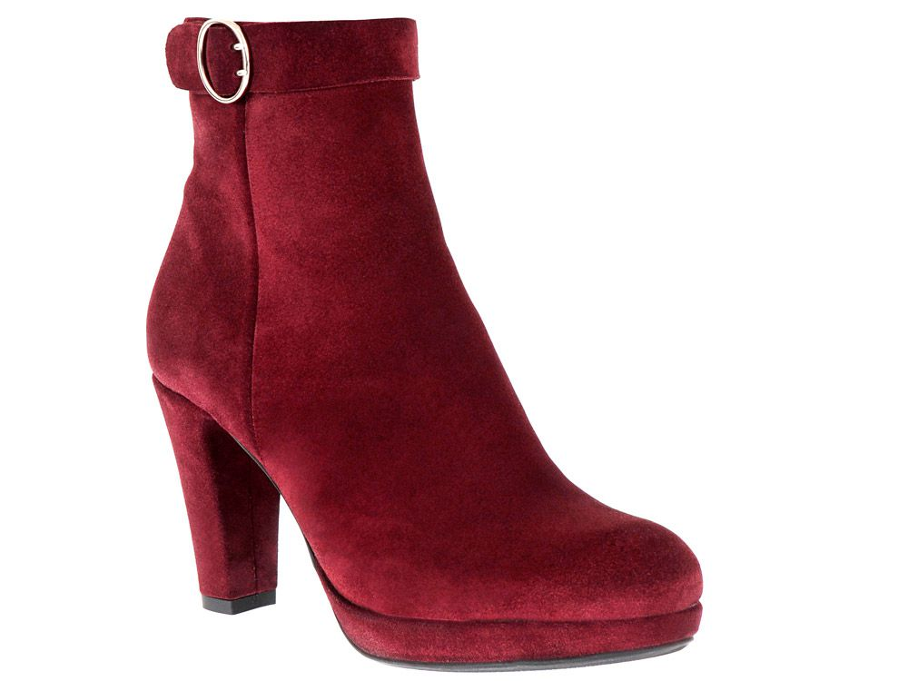 BOOTY CALL Buckle down in these Misty booties from La Canadienne. $425. Available at 273 Laurier Ave. W. and 4920 Sherbrooke St. W., lacanadienneshoes.com.