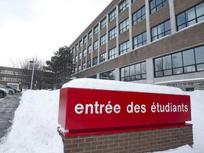 Entrance for the students of Collège de Rosemont, where seven students have allegedly espoused jihadism.