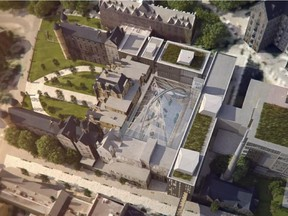 The proposed redevelopment of the Royal Victoria Hospital site by McGill University includes a 2,000- seat convocation hall/atrium that could be used by the community.