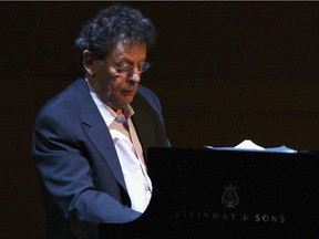Composer Philip Glass at Carnegie Hall in New York City in 2006.