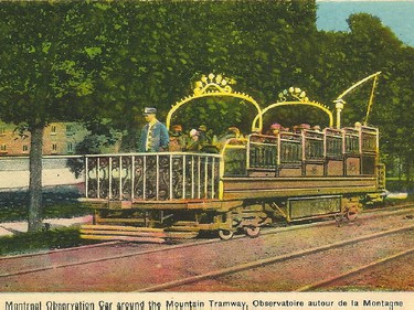 Postcard image of the Mountain Tramway in Montreal from the early 1900s. Courtesy of Robert N. Wilkins
