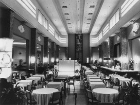 The Eaton's restaurant, in an undated photo.