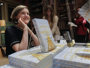 Heather O'Neill at the launch of her latest book, Daydreams of Angels, on April 9, 2015, at Montreal's Drawn & Quarterly bookstore.