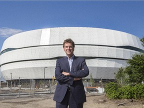 François Moreau, architect of the new Centre Vidéotron in Quebec City, poses in front of the arena on June 22, 2015.