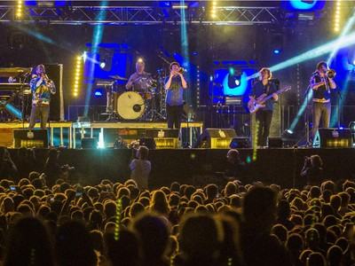 American music group Beirut performs for the Montreal International Jazz Festival at Place des Arts in Montreal on Friday, June 26, 2015.