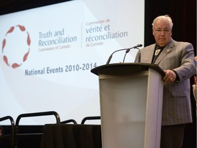 Commission chairman Justice Murray Sinclair speaks at the Truth and Reconciliation Commission in Ottawa on Tuesday, June 2, 2015 in Ottawa.