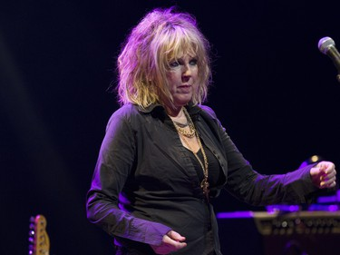 MONTREAL, QUE.: JULY 3, 2015 -- Singer-songwriter Lucinda Williams prepares to perform her opening number at the Salle Wilfrid-Pelletier of Place des Arts Friday, July 3, 2015 in Montreal as part of the Montreal International Jazz Festival. (John Kenney / MONTREAL GAZETTE)