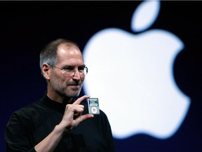 Apple co-founder Steve Jobs presents an iPod Nano in 2007. The corporation helped steer downloaders away from piracy with the introduction of iTunes, but when it launched the streaming service Apple Music in June, it initially said it wouldn't pay royalties during the user's three-month trial period.