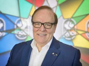MONTREAL, QUE.: JUNE 25, 2015 --  Canadian Olympic Committee president Marcel Aubut at Olympic House on boul Rene Levesque in Montreal, on Thursday, June 25, 2015. (Peter McCabe / MONTREAL GAZETTE)