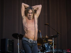 American musician Iggy Pop performs on day two of the Heavy Montreal music festival at Jean-Drapeau park in Montreal on Saturday, August 8, 2015.