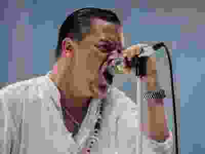 Mike Patton of the American band Faith No More performs on day two of the Heavy Montreal music festival at Jean-Drapeau park in Montreal on Saturday, August 8, 2015.