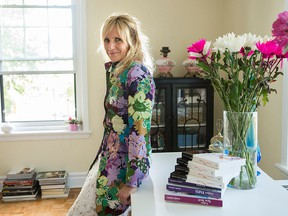 Author and fashionista Isabelle Laflèche, shown wearing a floral coat by Via Spiga, has enjoyed success with her J'adore series of novels.