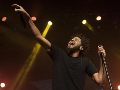 Hip-hop artist J. Cole performs at the Bell Centre in Montreal Friday, September 4, 2015. His most recent studio album is 2014 Forest Hills Drive.