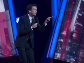 """John Mulaney, pictured at Just for Laughs in 2013, is focusing once more on his standup career — which brings him to Metropolis on Sunday, Oct. 25 — after his self-titled Fox sitcom was quickly cancelled. """"Having bombed in standup before, I do respect when audiences all together just go: 'Nope,' """" he says."""