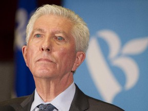 Bloc Québécois leader Gilles Duceppe listens to a question at a press conference in Montreal Tuesday, October 20, 2015 in Montreal the day after the federal election. His party won only 10 seats in the election.