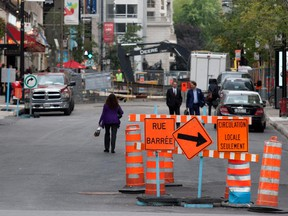 Remember this, when work on Peel St. caused traffic jams in 2015? Ste-Catherine St. work begins Jan. 8, 2018. Prepare to be patient. And maybe late.