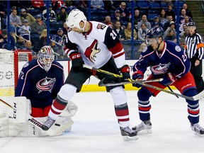 Arizona Coyotes forward John Scott was the leading vote-getter after the first week of NHL All-Star Game balloting.