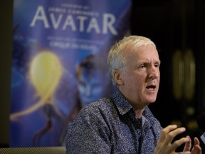 Avatar director James Cameron speaks with Montreal media on Dec. 21, 2015, hours before the première of Cirque du Soleil's Toruk — The First Flight.