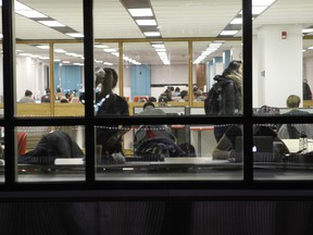 McGill University students study at the Redpath Library in Montreal on November 26, 2015.