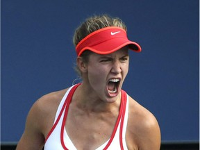 Sixth-seeded Eugenie Bouchard defeated unseeded American Nicole Gibbs 6-4, 6-2 on Wednesday at the Shenzhen Open in China.