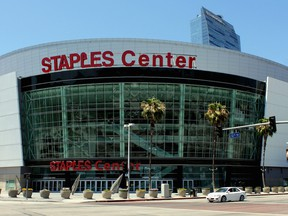 The Staples Center in Los Angeles, California.