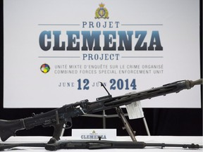 Weapons seized during Project Clemenza in 2014.