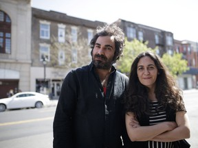 Hind Benchekroun and Sami Mermer in Montreal on May 18: their documentary offers a unique perspective on the plight of refugees.