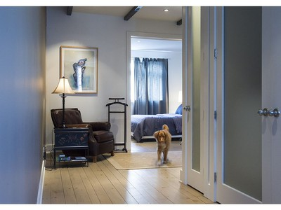 Alfie makes his way from the master bedroom through the reading / relaxation area on the second floor, in the house of Kimberlie Robert, located on Knox street on Tuesday May 3, 2016. (Pierre Obendrauf / MONTREAL GAZETTE) ORG XMIT: 55935 - 0001