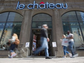 A Le Château store on Ste-Catherine St. W. in Montreal on Tuesday, May 5, 2015.