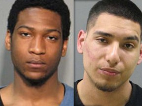 Mug shots of Jeffrey St Cloud and Daniel Quiroz Rivas.