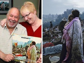 Now and then: Bobbi and Nick Ercoline are still married decades after they were captured at Woodstock as a loving couple in the early months of their courtship.