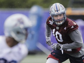"""""""Unfortunately, we've been in a bit of a downward spiral the last couple of years. Hopefully, I'll be around to be a part of the change,"""" said Alouettes safety Marc-Olivier Brouillette."""