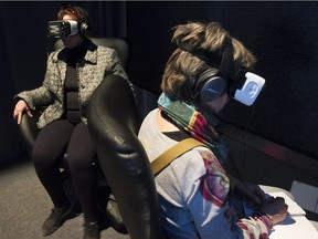 """The Phi Centre exhibit Embodied Narrative: Sensory Stories of the Digital Age emphasizes interaction. """"Very little here is truly passive,"""" says  Charles Melcher of New York's Future of StoryTelling, which curated the show."""