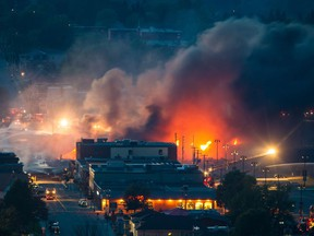 A runaway train carrying crude oil derailed and killed 47 people in an explosion in Lac-Mégantic, Quebec in July 2013.